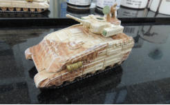 Ajax Heavy MICV with overspray camo, drybrushing and stowage added