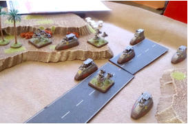 Tony Francis' 15mm Slammers game using Brigade EuroFed and PacFed as Compaigne de Barthe and TAS with Ainsty Slammers