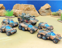 Sincanmo Federation vehicles with Tribarrels