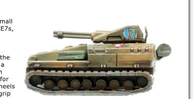 The Rosomakha Light Tank used in the Recce Detachment. This one has the 2cm gatling rail gun however there are other variants with a 6cm support weapon and all have an extra stowage space for a spotter or sniper.